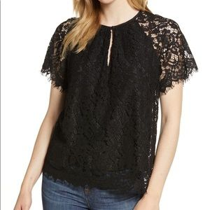 🆕 J.Crew Short Sleeve Lace Top